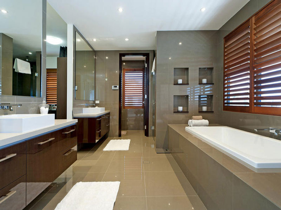 Bathroom renovations north shore by fred rose for Modern ensuite ideas