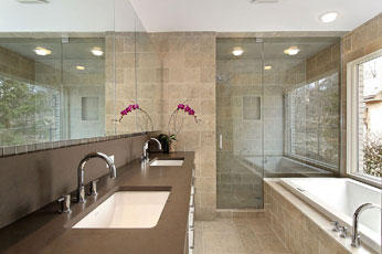 Beautiful Bathroom Vanity and Shower